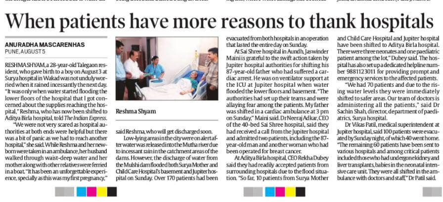 Indian Express | Best Hospital in Chinchwad Pune